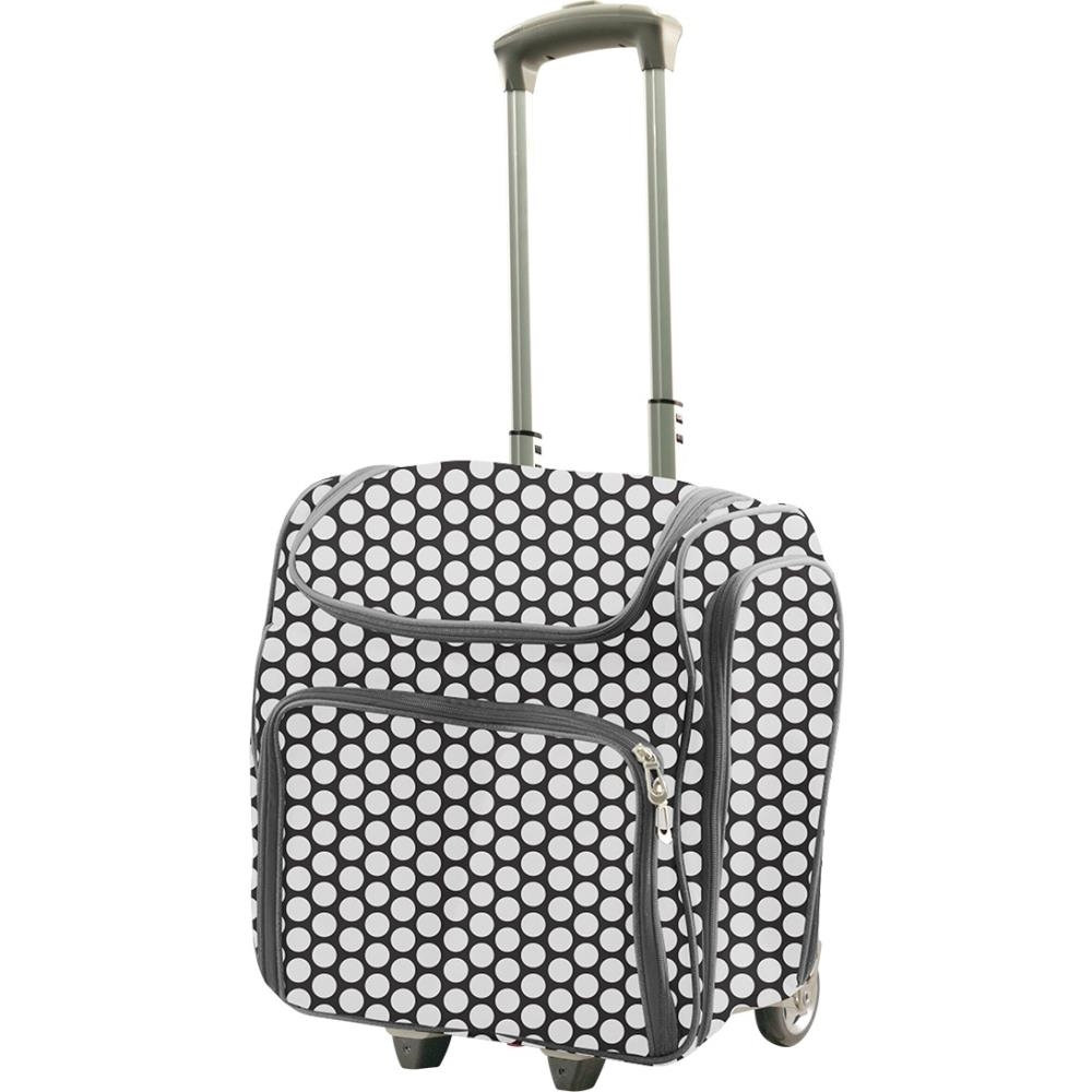 Couture Creations WHITE SPOTS Craft Rolling Travel Trolley co726361* zoom image