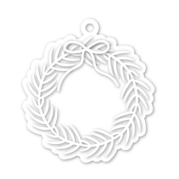 Simon Says Stamp WREATH TAG Wafer Dies SSSD111949