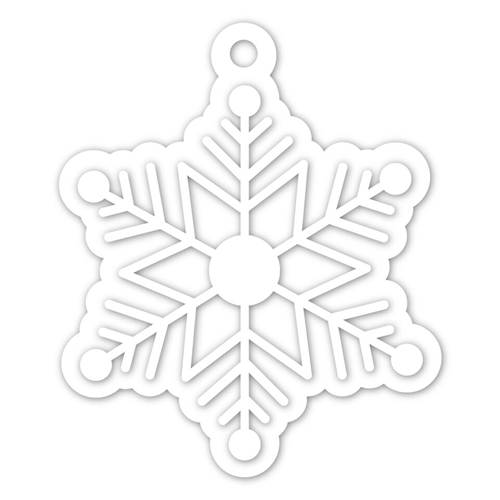 Simon Says Stamp SNOWFLAKE TAG Wafer Dies SSSD111950 Preview Image