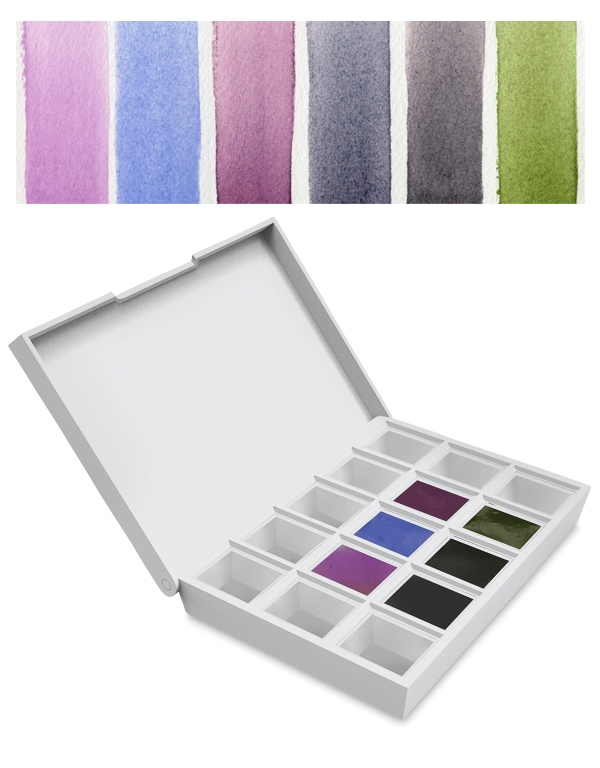 Daniel Smith COLORS OF INSPIRATION Hand Poured Watercolor Half Pan Set 285650003 zoom image