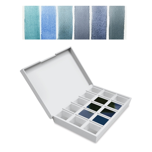 Daniel Smith BLUES Hand Poured Watercolor Half Pan Set 285650004 Preview Image