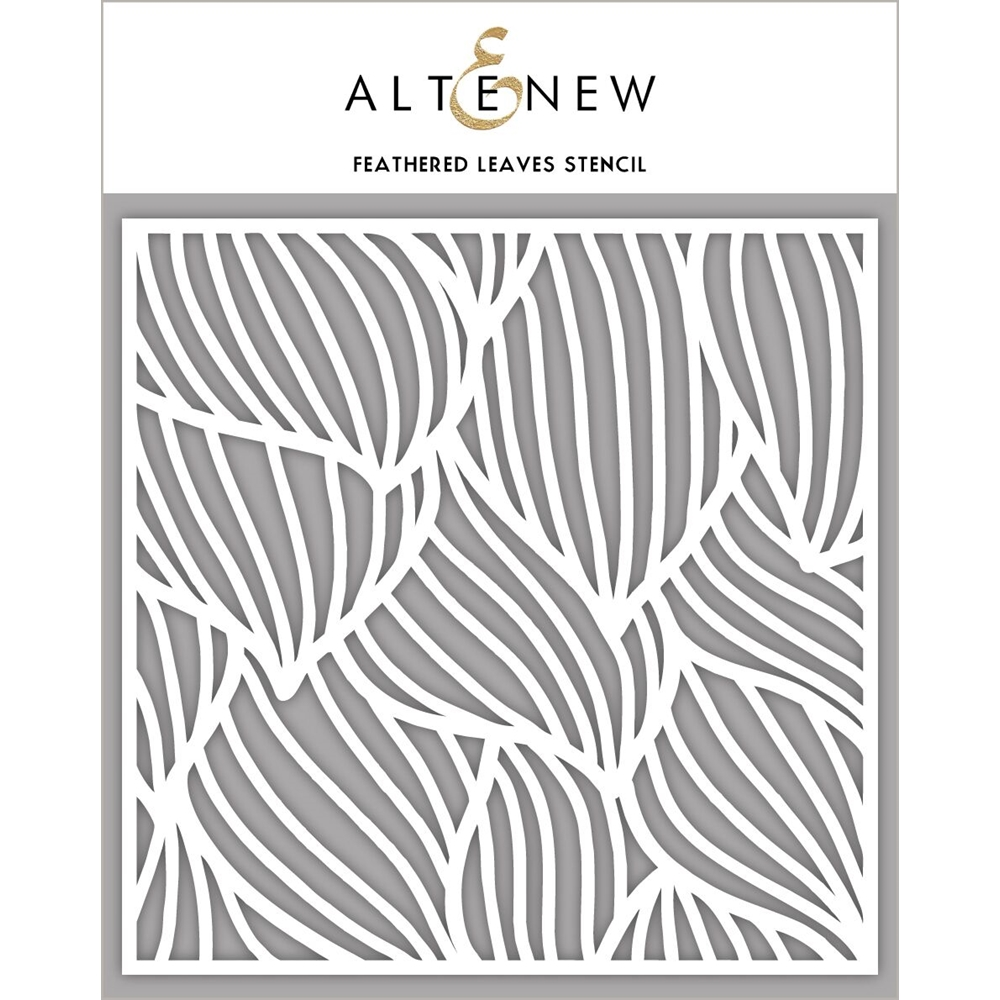 Altenew FEATHERED LEAVES Stencil ALT2777 zoom image