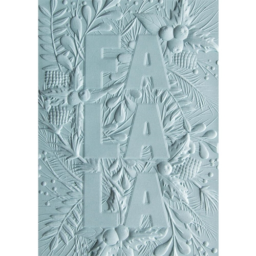 Sizzix Textured Impressions FA LA LA 3D Embossing Folder 663207 Preview Image