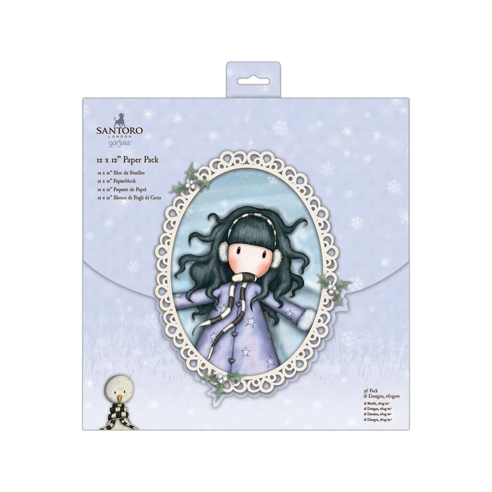 DoCrafts CHRISTMAS 12 x 12 Paper Pack Gorjuss go160900 zoom image