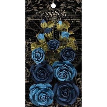 Graphic 45 BON VOYAGE & FRENCH BLUE Rose Bouquet 4501788