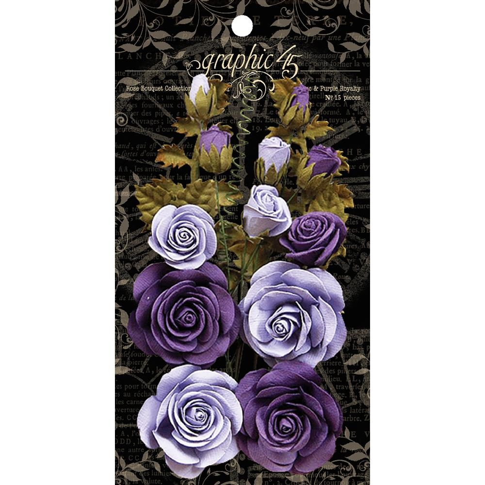 Graphic 45 FRENCH LILAC AND PURPLE ROYALTY Rose Bouquet 4501787 zoom image