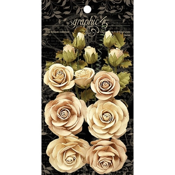Graphic 45 CLASSIC IVORY & NATURAL LINEN Rose Bouquet 4501784