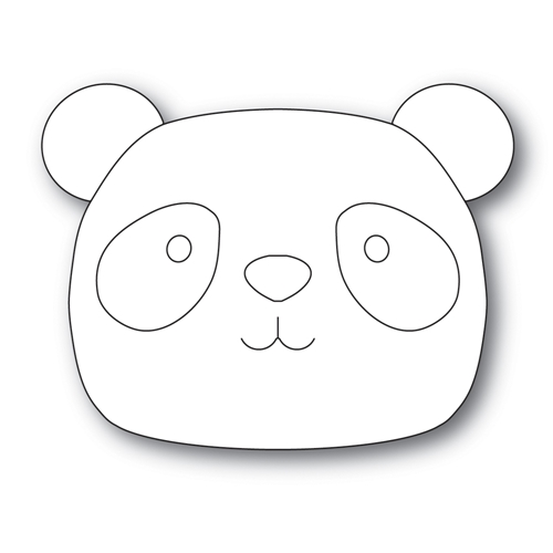 Simon Says Stamp BIG PICTURE BOOK PANDA Wafer Die s561 Diecember Preview Image