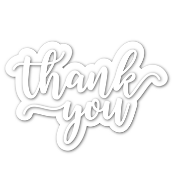 Simon Says Stamp THANK YOU SCRIPT Shadow Wafer Dies sssd111916