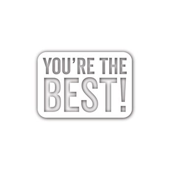 Simon Says Stamp YOU'RE THE BEST Wafer Die sssd111925 Diecember