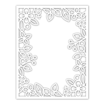 Simon Says Stamp OUTLINE FLORAL FRAME Wafer Die sssd111934