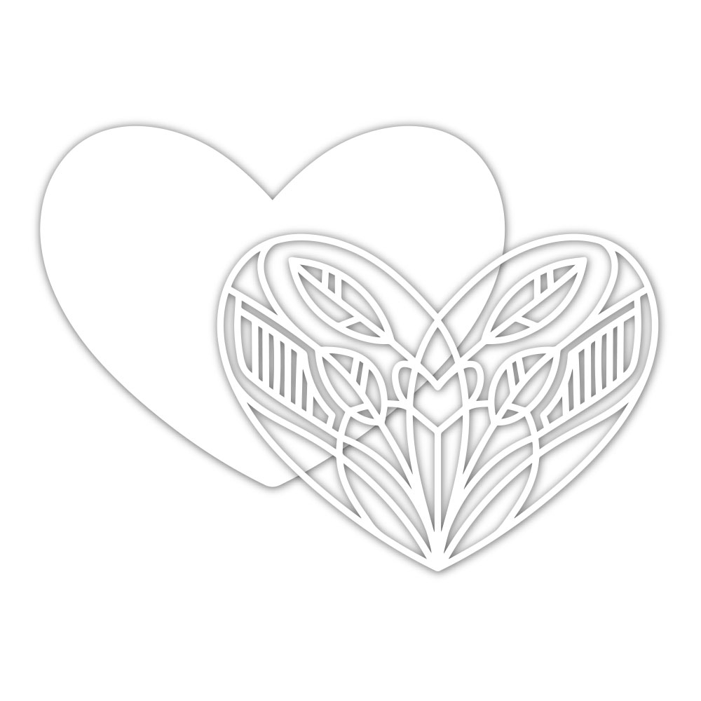 Simon Says Stamp DECO HEART Wafer Dies sssd111935 zoom image