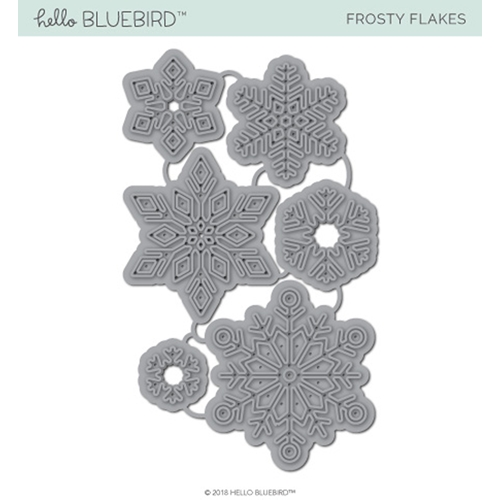 Hello Bluebird FROSTY FLAKES Die hb2144 Preview Image