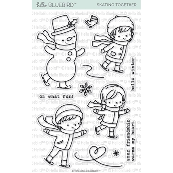 Hello Bluebird SKATING TOGETHER Clear Stamps hb2149