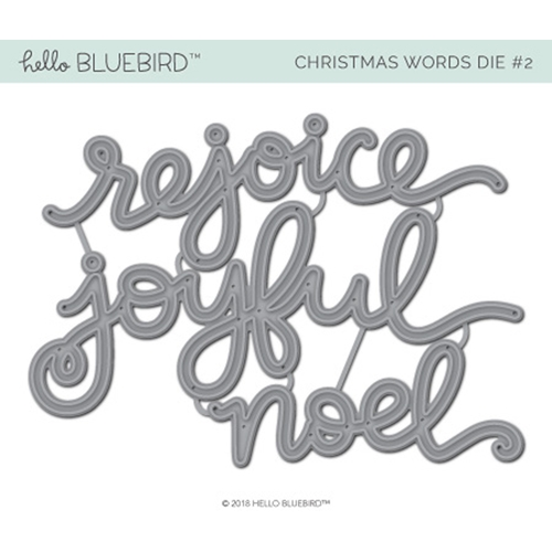 Hello Bluebird CHRISTMAS WORDS DIE 2 hb2079 Preview Image
