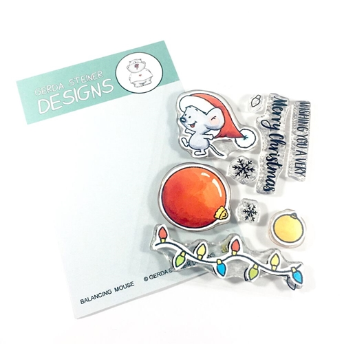 Gerda Steiner Designs BALANCING MOUSE Clear Stamp Set gsd658 Preview Image