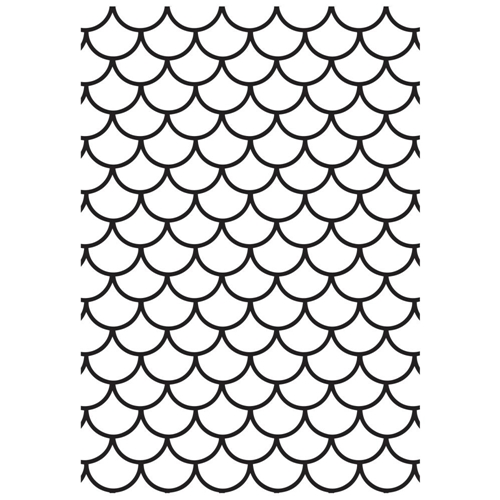 Kaisercraft SCALES 4x6 Inch Embossing Folder EF297 Preview Image