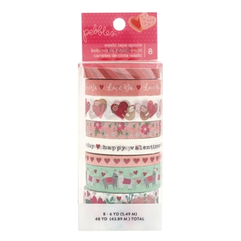 Pebbles Inc. LOVES ME WASHI TAPE Collection Spools 733995