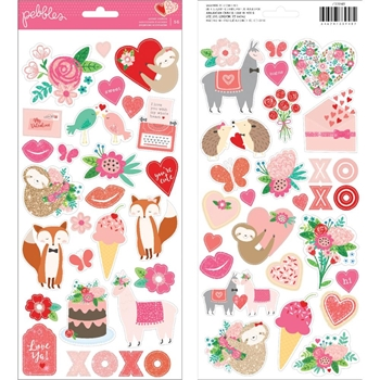 Pebbles Inc. LOVES ME Icons and Accents Cardstock Stickers 733948