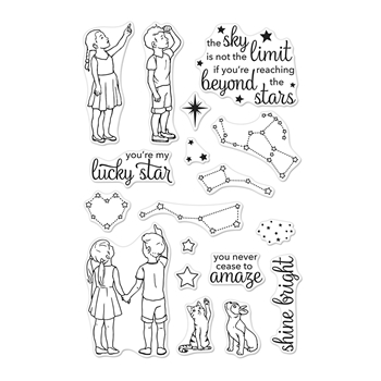 Hero Arts Clear Stamps LUCKY STAR CM315*