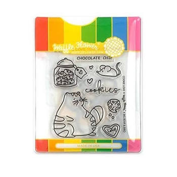 Waffle Flower COOKIE LOVE Clear Stamp and Die Set WFC214*