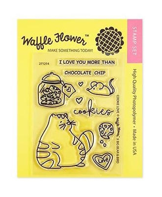Waffle Flower COOKIE LOVE Clear Stamps 271214 zoom image