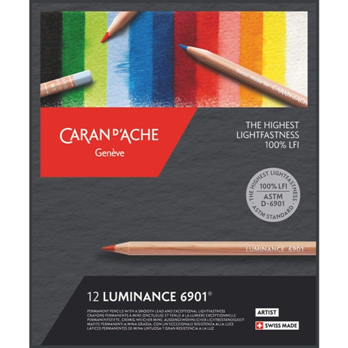 Caran d'Ache LUMINANCE 12 Colored Pencils 6901712 Preview Image