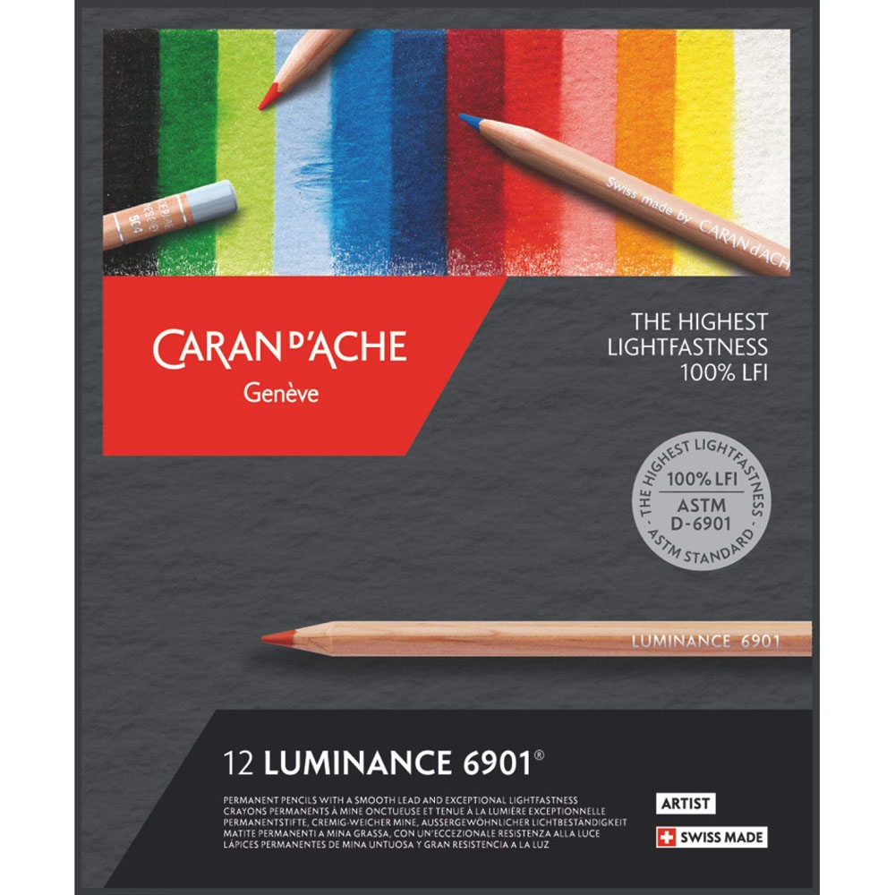 Caran d'Ache LUMINANCE 12 Colored Pencils 6901712 zoom image
