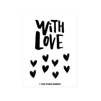 The Stamp Market WITH LOVE Clear Stamp Set tsm078*