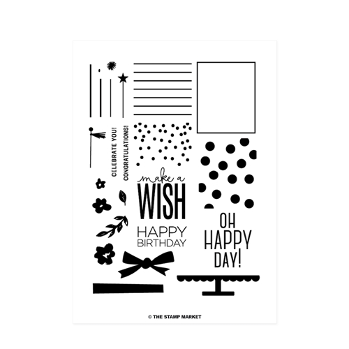The Stamp Market BIRTHDAY WISHES Clear Stamp Set tsm008 Preview Image