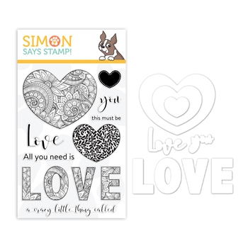 Simon Says Stamps And Dies ORNATE LOVE Set1218OL You Are Loved