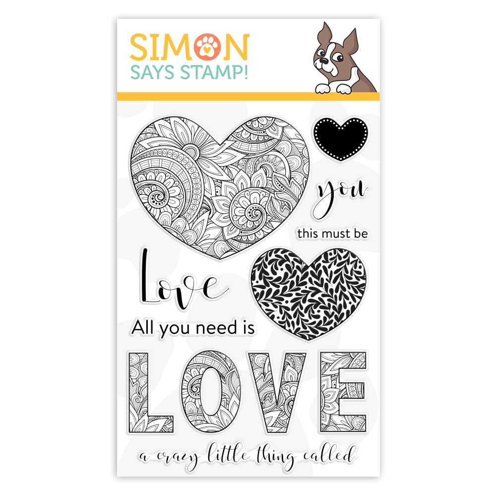 Simon Says Clear Stamps ORNATE LOVE sss101944 You Are Loved zoom image