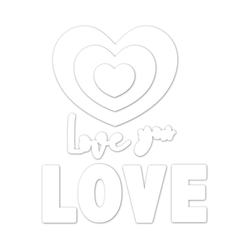 Simon Says Stamp ORNATE LOVE Wafer Dies sssd111938 You Are Loved Preview Image