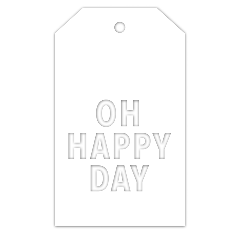 CZ Design OH HAPPY DAY TAG Wafer Die czd45 You Are Loved zoom image