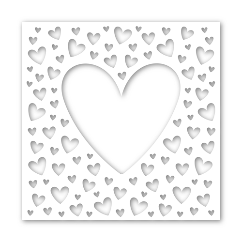 Simon Says Stamp Stencil ALL MY HEART ssst121434 You Are Loved Preview Image