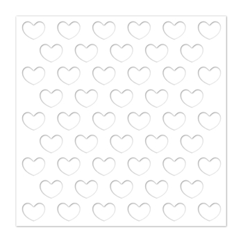 Simon Says Stamp Stencil REVERSE HEARTS ssst121428 You Are Loved
