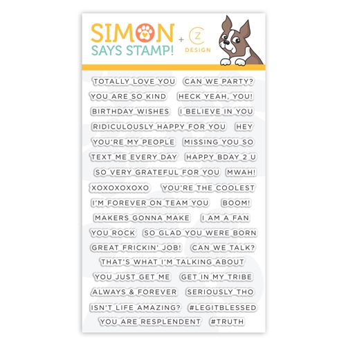 CZ Design Stamps SIMPLE SENTIMENTS 2 cz28 You Are Loved Preview Image