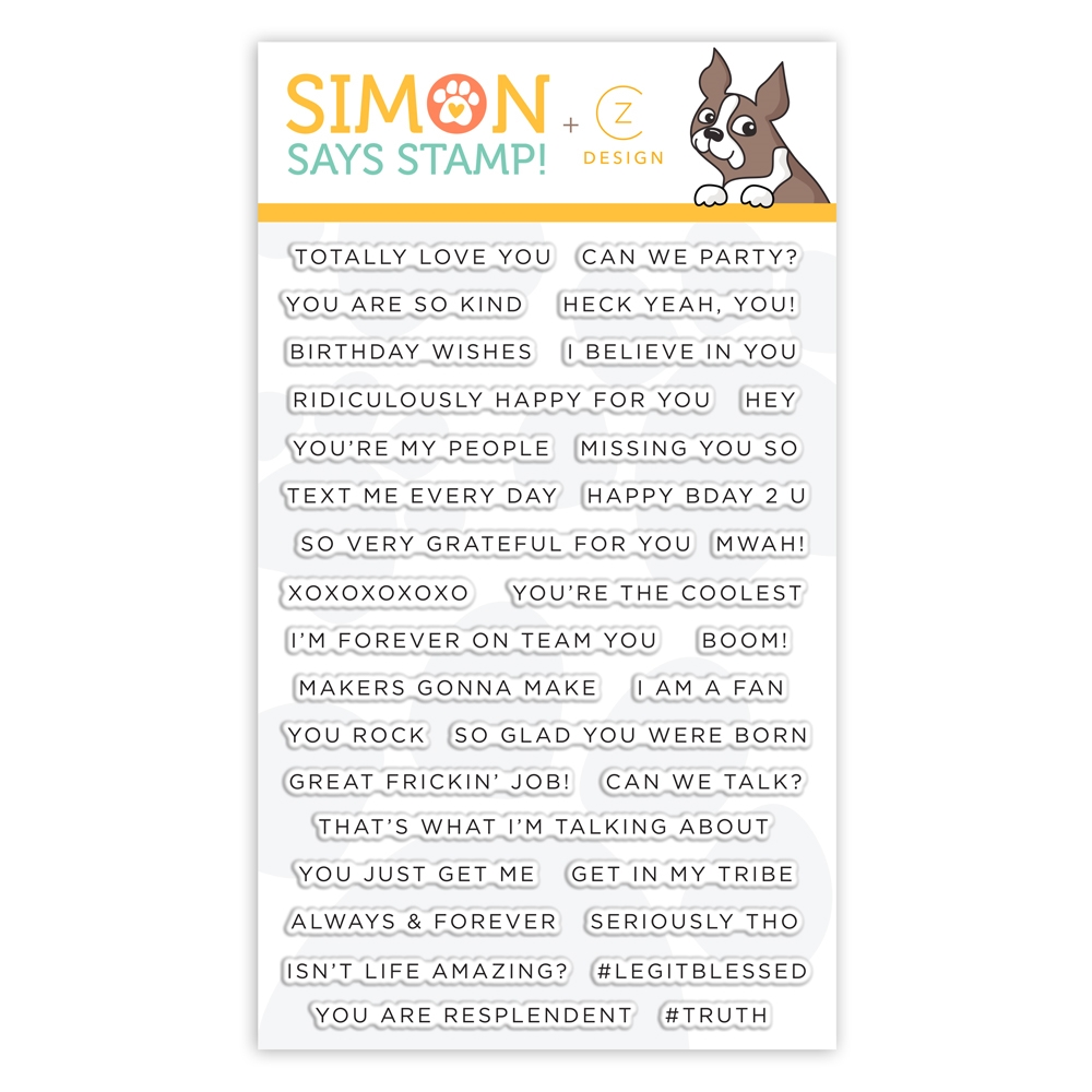 CZ Design Stamps SIMPLE SENTIMENTS 2 cz28 You Are Loved zoom image