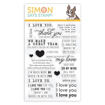 Simon Says Clear Stamps LOVE MESSAGES sss101949 You Are Loved