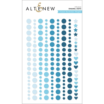 Altenew COOL SUMMER NIGHT Enamel Dots ALT2588