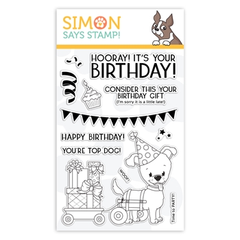 Simon Says Clear Stamps TOP DOG BIRTHDAY sss101958 You Are Loved