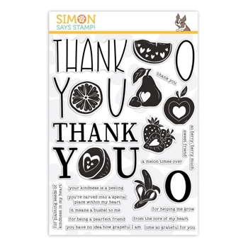 Simon Says Clear Stamps FRUIT FROM THE HEART sss101876 You Are Loved