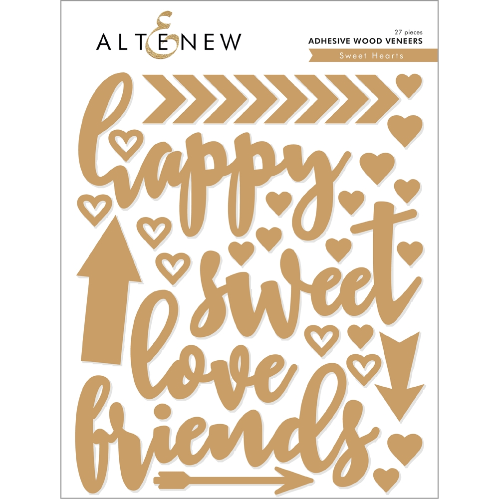 Altenew SWEET HEARTS Adhesive Wood Veneers ALT2585 zoom image