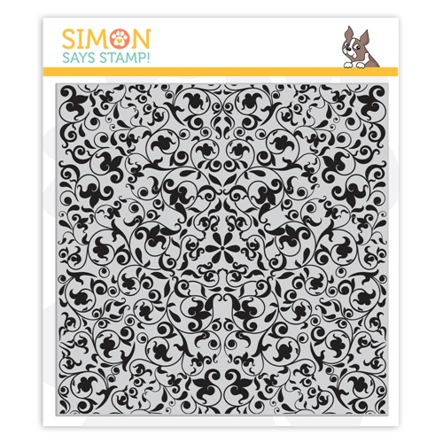 Simon Says Cling Rubber Stamp FLOURISH BACKGROUND sss101945 You Are Loved Preview Image