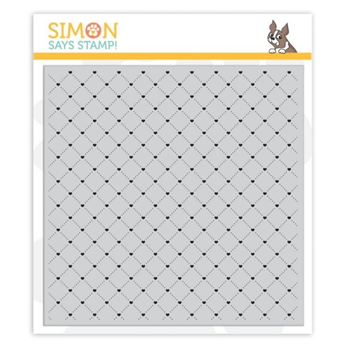 Simon Says Cling Rubber Stamp QUILTED HEARTS BACKGROUND sss101947 You Are Loved Preview Image