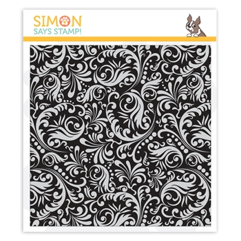 Simon Says Cling Rubber Stamp DAMASK BACKGROUND sss101953 You Are Loved
