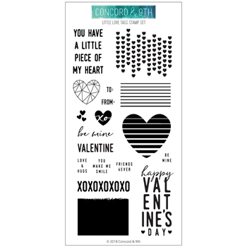 Concord & 9th LITTLE LOVE TAGS Clear Stamp Set 10515*