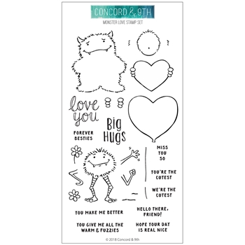 Concord & 9th MONSTER LOVE Clear Stamp Set 10518