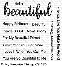 My Favorite Things HELLO BEAUTIFUL Clear Stamps CS330 Preview Image