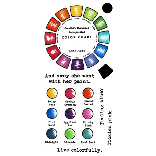 Inky Antics COLOR WHEEL Clear Stamp Set 11428lc Preview Image